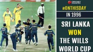 Sri Lanka beat Australia to lift the 1996 World Cup
