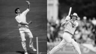 Richard Hadlee plunders 99 in 81 balls and registers 35-15-44-8 to bowl England out for 82 and 93