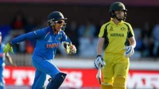 Live Cricket Score, India Women vs Australia Women, 1st T20I 2018, Mumbai: Australia win by 6 wickets