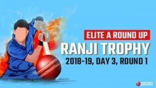 Ranji Trophy 2018-19, Elite Group A roundup: Fazal ton puts Vidarbha ahead, sizeable leads for Baroda and Mumbai