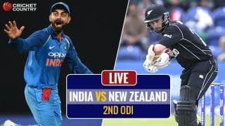 LIVE CRICKET SCORE, India vs New Zealand, 2nd ODI at Pune: IND win