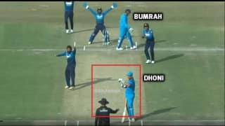 India vs Sri Lanka, 1st ODI: MS Dhoni calls for DRS even before umpire signals Jasprit Bumrah out