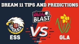 Dream11 Team Essex vs Glamorgan South Group VITALITY T20 BLAST ENGLISH T20 BLAST – Cricket Prediction Tips For Today's T20 Match ESS vs GLA at Chelmsford