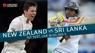 SL 282 all out in 95.2 overs | Live Cricket Score, New Zealand vs Sri Lanka 2015-16, 1st Test at Dunedin, Day 5: New Zealand win by 122 runs