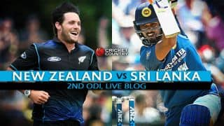 NZ 118/0 in 8.2 Overs, target 118│Live Cricket Score, New Zealand vs Sri Lanka 2015-16, 2nd ODI at Christchurch: Martin Guptill leads record-breaking successful chase!