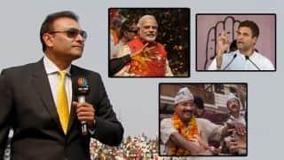 Ravi Shastri rides the BJP - Narendra Modi in style!