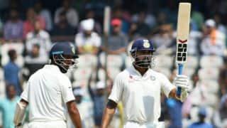 India vs Bangladesh one-off Test: Murali Vijay, Cheteshwar Pujara's fifties bolster hosts past 200 at tea