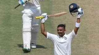 Debutant Prithvi Shaw batted like someone who has played 50 Tests: MSK Prasad