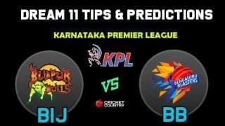 BIJ vs BB Dream11 Team Bijapur Bulls vs Bengaluru Blasters KPL 2019 Karnataka Premier League – Cricket Prediction Tips For Today's T20 Match at Bengaluru