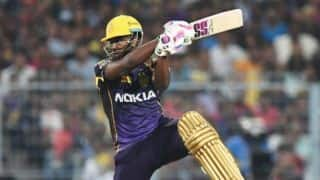 Andre Russell 19 ball 49 run inning help Kolkata win against Hyderabad