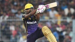 आंद्रे रसेल ने खेली 19 गेंद पर 49 रन की पारी, 6 विकेट से जीता कोलकाता