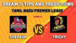 Dream11 Team Chepauk Super Gillies vs Ruby Trichy Warriors Match 6 TNPL – Cricket Prediction Tips For Today's T20 Match CHE vs RUB at ICL Sankar Nagar Ground, Trunelveli