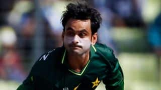 Mohammad Hafeez banned from bowling for 1 year