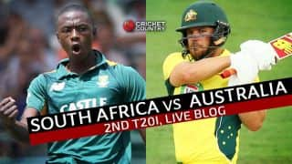 AUS 205/5 in 20 overs | Live Cricket Score South Africa vs Australia 2015-16, SA vs AUS, 2nd T20 Match at Johannesburg: Australia clinch a thriller