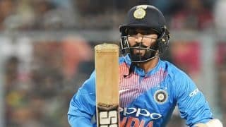 Dinesh Karthik becomes victim of Twitter trolls after failing to give Krunal Pandya strike