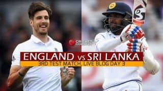 England 109/4, Day 3, 3rd fTest: Get updates on live score and ball-by-ball commentary for Sri Lanka's tour of England