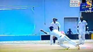 VIDEO: Ajinkya Rahane takes superb catch to dismiss Kumar Sangakkara for final time at Galle