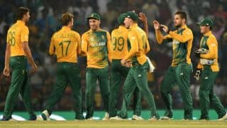 South Africa bowl out Sri Lanka for 120 in ICC T20 World Cup 2016, Match 32 at Delhi
