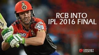 RCB in final of IPL 2016 after AB de Villiers, Iqbal Abdulla mastermind thrilling 4-wicket win against GL in Qualifier 1 at Bengaluru