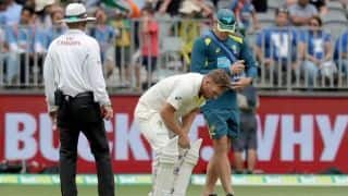 Aaron Finch cleared to bat on day four in Perth: Cricket Australia