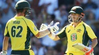 David Warner-Travis Head record stand powers Australia to 369/7 vs Pakistan in 5th ODI at Adelaide