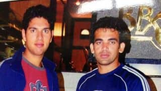 Rare old picture of Yuvraj Singh and Zaheer Khan