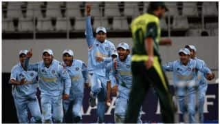 On this Day in First T20I world Cup India beat Pakistan in bowl-out