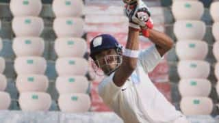 Kedar Jadhav falls as Karnataka on top