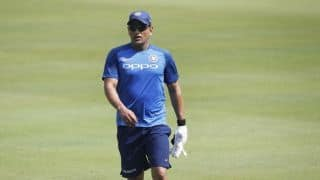 Injury scare for India as MS Dhoni gets hit on forearm during net session