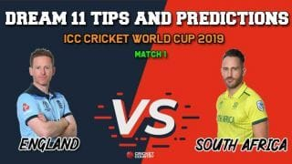 Dream11 Prediction: ENG vs SA World Cup 2019, Match 1, Team Best Players to Pick for Today's Match between England and South Africa at 3:00 PM
