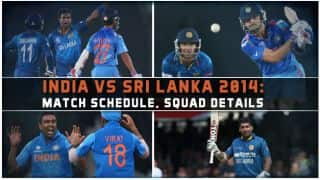 India vs Sri Lanka 2014 schedule: Match time table and squad details