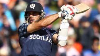 Scotland in control following Kyle Coetzer's half-century against Bangladesh