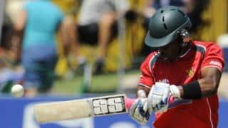 Chamu Chibhabha scores 12th ODI fifty in India vs Zimbabwe 2015, 2nd ODI at Harare