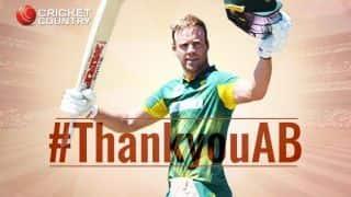 AB de Villiers: a career in numbers