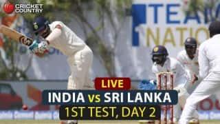 Live Cricket Score, India Men vs Sri Lanka Men 2017, 1st Test, Day 2: STUMPS; SL trail IND by 446