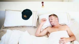 English media irked over image of David Warner sleeping with Ashes urn