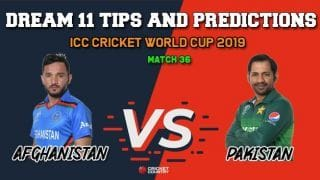 AFG vs PAK Dream11 Prediction, Cricket World Cup 2019, Match 36: Best Playing XI Players to Pick for Today's Match between Afghanistan and Pakistan at 3 PM