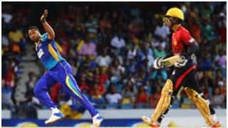 CPL 2017: Kieron Pollard bowls deliberate no-ball to deny Evin Lewis a century