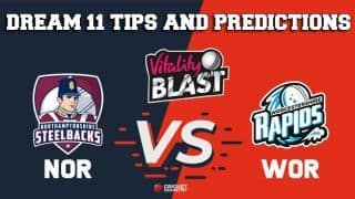 Dream11 Team Northamptonshire vs Worcestershire North Group VITALITY T20 BLAST ENGLISH T20 BLAST – Cricket Prediction Tips For Today's T20 Match NOR vs WOR at Worcester