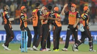 Sunrisers Hyderabad thrash Royal Challengers Bangalore by 15 runs in IPL 2016 Match 27 at Hyderabad