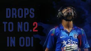 Virat Kohli drops to No 2 spot in ICC ODI Rankings for batsmen