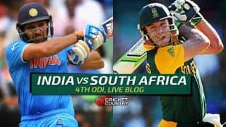 SA 264/9, overs 50 (Target 300) | Live Cricket Score India vs South Africa 2015, 4th ODI at Chennai