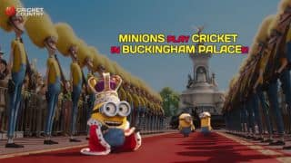 When Minions played cricket inside Buckingham Palace