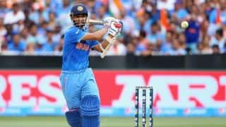 Ajinkya Rahane controversially dismissed for 14 by Kemar Roach against West Indies in ICC Cricket World Cup 2015