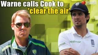 Shane Warne calls Alastair Cook to 'clear the air'