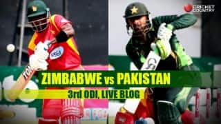 PAK 162/3 (Target 162) | Live Cricket Score Pakistan vs Zimbabwe 2015, 3rd ODI at Harare: PAK win by 7 wickets