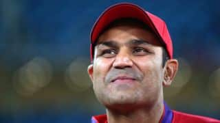 Anil Kumble could not score his 2nd Test hundred because of Virender Sehwag