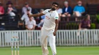 R Ashwin scalps five-wicket haul for Nottinghamshire against Somerset