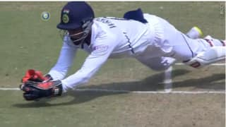 Video: Wriddhiman Saha shows awesome wicket keeping skills at Pune