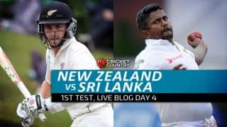 SL 109/3 | Live Cricket Score, New Zealand vs Sri Lanka 2015-16, 1st Test at Dunedin, Day 4: Stumps called with New Zealand on top